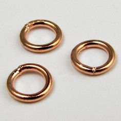 6mm brass plated jump rings 100 per package