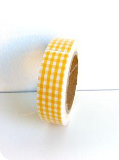 Fabric tape Vichy amarillo - Shop We Love Parties Bcn