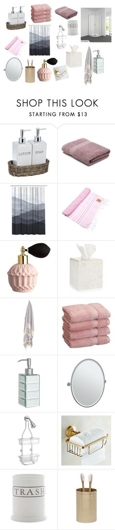 """""""Saki's Bathroom"""" by xtumblralex on Polyvore featuring interior, interiors, interior design, home, home decor, interior decorating, M&Co, ArteMare, Hotel Collection and John Lewis"""