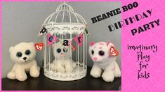 Beanie Boo Birthday Party!  A fun imaginary play idea for kids.  Let them set up a pretend birthday party or tea party for one of their beanie boos.  They all have their birthdays on their tags.  Hours of creative play at home.