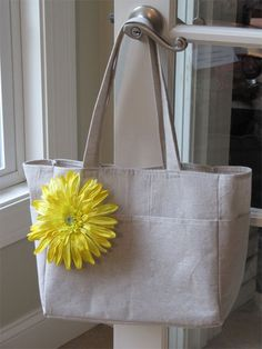 Art bag with Pattern and Tutorial - Drop Cloth Bag