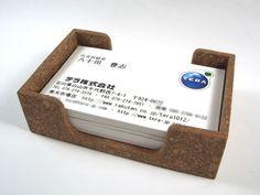 しっかりと厚みのあるカード置き(貴名受けにも) - 試作品 - コルクワールド
