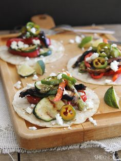 Grilled vegetable tostadas with goat cheese