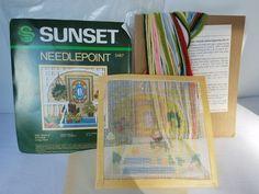 "Vintage 5457 Maple Avenue 5X5"" Needlepoint Longstitch  Kit  1982 SUNSET 5467 #1983SUNSETDIMENSIONS"