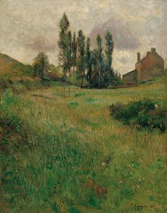 peira:    Paul Gauguin:  Dogs Running in a Meadow (1888) via Museo Thyssen-Bornemisza