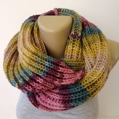 fashion knitted scarf ,winter . infinity scarf ,unisex scarves