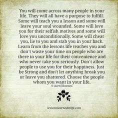 Lessons Learned in Life | The lessons life teaches you.