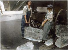 Garotas entregando gelo – 1918.
