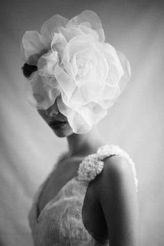 Suzy O'Rourke Headpiece via Dark Romance Editorial / Wedding Style Inspiration / LANE. Styling & Art Direction: Karissa Fanning. Photography: Trent Mitchell.