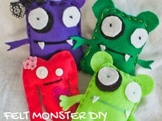 FELT MONSTER DIY