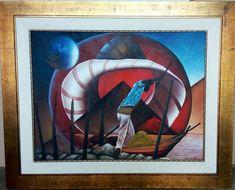 Original real art work painting by renown Haitian artist Gasner Thermonfis. Surrealism, Paintings, Fantasy, Artist, Artwork, Work Of Art, Paint, Auguste Rodin Artwork, Painting Art