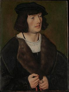 Portrait of a Man with a Rosary Lucas Cranach the Elder (German, Kronach 1472–1553 Weimar)