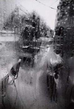 """Rear Window, Paris,"" photograph by Saul Leiter, c. 1960 Dimensions:  13.5 X 9 in (34.29 X 22.86 cm), Medium:  Silver print"