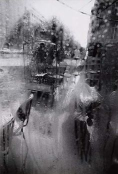 """Rear Window, Paris,"" photograph by Saul Leiter, c. 1960 Dimensions:  13.5 X 9 in (34.29 X 22.86 cm), Medium:  Silver print"