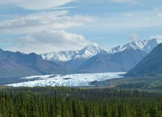 We had a beautiful view of Matanuska Glacier from the Glenn Highway near Palmer, Alaska.