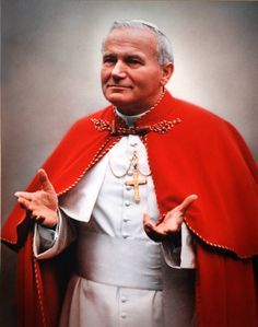 pope john paul 2 | portrait of the Polish Pope John Paul II (1920 - 2005), born Karol ...