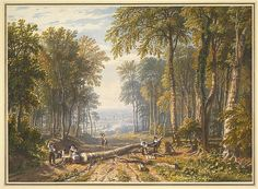 William Havell (British, 1782–1857). Woodcutters at Park Place, Henley, the River Thames Beyond, ca.1826. The Metropolitan Museum of Art, New York. Purchase, Guy Wildenstein Gift, 2012 (2012.48)