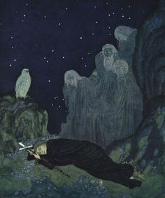 Edmund Dulac - The Dreamer of Dreams by Marie Queen of Roumania - A circle of mist seemed to be settling around them (5 of 8)