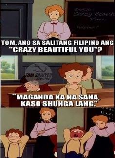 Tagalog Quotes Hugot Funny, Hugot Quotes, Funny Qoutes, Jokes Quotes, Quotable Quotes, Funny Memes, Memes Pinoy, Pinoy Quotes, Tagalog Love Quotes