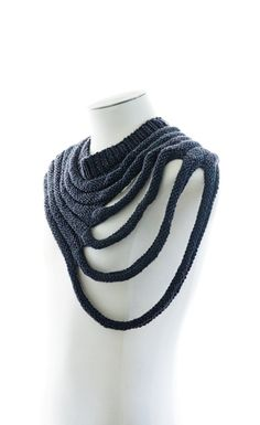 "Outbreak is a distressed unisex cowl / scarf. Its distorted oval shape can be pivoted to be work symmetrically or asymmetrically. Outbreak is a design from the MFTI Brutal collection. MFTI BRUTAL DIY is an outlier knitwear pattern collection for the post-apocalyptic DIYer. ""Soft Knit, Brutal Design"" This purchase is for 1 PDF knitting pattern not the finished item. This PDF pattern is available for instant download. - Written in english with metric measurements. - Full written instructi..."