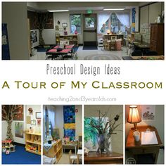Preschool classroom design ideas - tour 7 different environments! From Teaching 2 and 3 Year Olds Reggio Inspired Classrooms, Reggio Classroom, Classroom Layout, Classroom Setting, Classroom Design, Preschool Classroom, Classroom Organization, Classroom Decor, Kindergarten