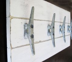 Hey, I found this really awesome Etsy listing at http://www.etsy.com/listing/124110011/boat-cleat-coat-rack-22x10-distressed