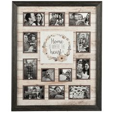 Where The Heart Is 12-Opening Collage Frame ($40) ❤ liked on Polyvore featuring home, home decor, frames, brown collage picture frames, 4x6 collage frames, heart shaped picture frames, heart picture frames and heart frames