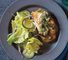 Pan-Fried Cod With Mustard-Caper Sauce recipe