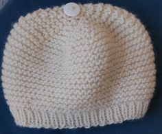 I knit these garter-stitch boots for a friend of mine who was having a baby last month and I was looking around for a hat to match them. I saw this really cute garter-stitch knit hat with a button …