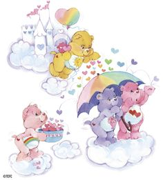 Care Bears: Raining Hearts with Funshine, Cheer, Share and Love-a-Lot Bear