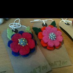 Syrah Jay felt flower corsages
