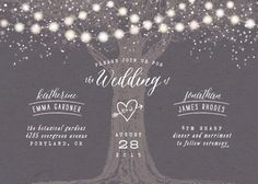 rustic wedding invite - Garden Lights by Hooray Creative, available at minted