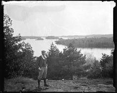 """Marsden Kemp at Charleston Lake"". Everyday life in Ontario Canada, by Marsden A. Charleston, Ontario, Canada, Mountains, History, Places, Islands, Travel, Life"