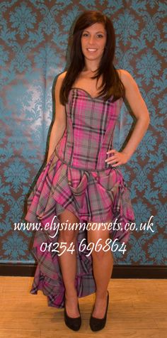 Tartan made to order corset and tucked skirt