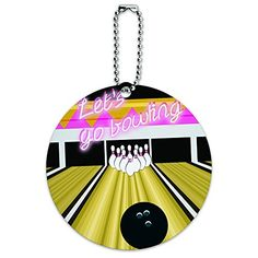 Bowling Alley Round Luggage ID Tag Card Suitcase CarryOn * Continue to the product at the image link.Note:It is affiliate link to Amazon.