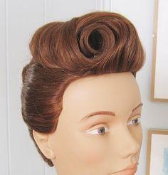 Sarah Smiles: Victory Rolls... Vintage Hair Tutorial Part 4