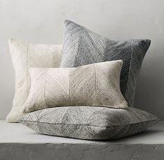 RH's Cela and Piazza Pillow Cover Collection