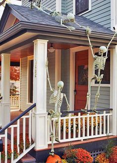 Outside decorating for Halloween