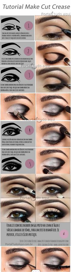 Find out what it is and how to make a makeup using the Cut Crease technique, ideal for brides or parties or for those who want a dramatic and impactful make-up. makeup augen hochzeit ideas tips makeup Smokey Eye Makeup, Makeup Eyeshadow, Eyeshadows, Smoky Eye, Orange Eyeshadow, Eyeshadow Palette, Glitter Eyeshadow, Eyeliner Pen, Flawless Makeup