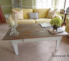 DIY Projects For Home Decorating: A Primitive Table Gets a New Lease on Life