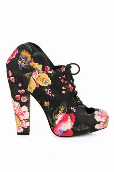 Rodarte for Opening Ceremony  Printed Cut-Out Bootie (Multi Floral) - someone please buy these. They are out of my size.