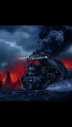 The Waste Lands, book three in The Gunslinger epic by Stephen King, in which a homicidal locomotive carries the hero across the wastelands of a post apocalyptic parallel world, where doors open onto vicarious times and places in our history Locomotive, Dark Fantasy, Fantasy Art, Anime Fantasy, La Tour Sombre, Gif Fete, The Dark Tower Series, Stephen King Books, Les Gifs