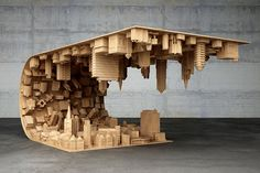 mousarris bends reality with wave city coffee table