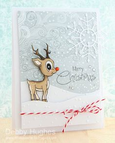 merry Christmas Rudolph by limedoodle - Cards and Paper Crafts at Splitcoaststampers