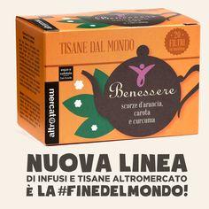 Nuova linea di Infusi e Tisane Altromercato, è la #finedelmondo! http://www.altromercato.it/nuova-linea-tisane-infusi