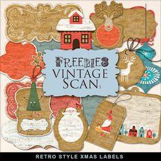 FREE Freebies Retro Labels Kit by Far Far Hill