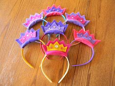 Princess party favors- felt and headband- awesome idea :)