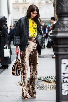 Paris Fashionweek day 6, outside Sacai,, Ursina Gysi