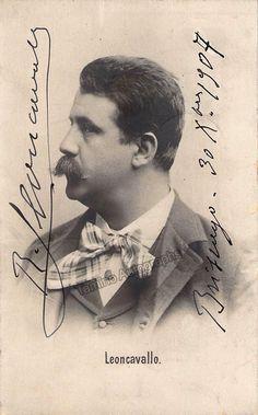 Leoncavallo, Ruggero - Signed Photo Postcard