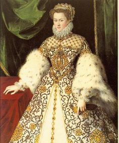 1570 Elisabeth of Austria by Georges van Straeten (Monasterio de las Descalzas Reales, Madrid) | Grand Ladies | gogm